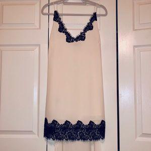 BCBG High low black lace slip dress